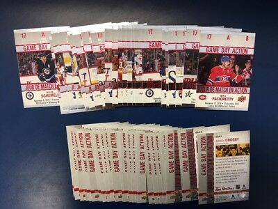 2017-18 Tim Hortons Ud Game Day Action   Lot **U Pick A Cards To Complete Set**