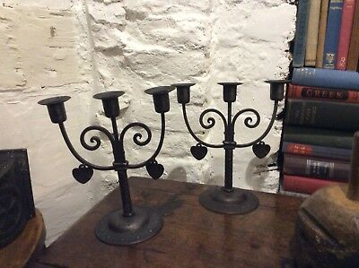 Fantastic Rare Pair Of Goberg Candelabra Hugo Berger Liberty Arts And Crafts