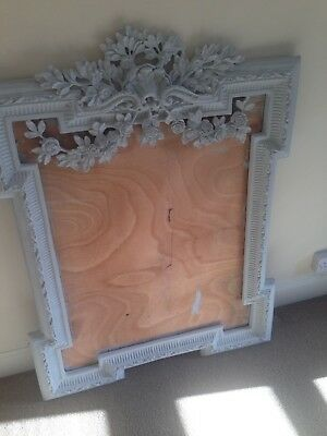 Antique Mirror Frame Shabby Chic French Painted Grey