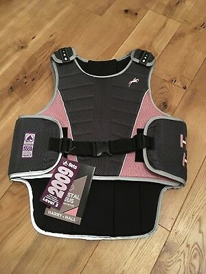 BNWT harry hall women's crystal zeus level 3 body protector size large