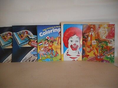 Lot - 4 McDonald's Calendars & a 1973 Puzzle All Never Used Stored Since 1980's