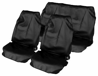 1+1 Black + Rear Black Seat Covers Waterproof For  Hyundai I30 All Years