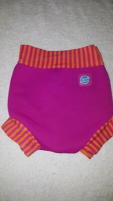Girls Splash About pink and orange aqua nappy size small
