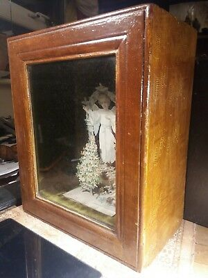 Mourning Victorian Glazed Display Cabinet Christmas card