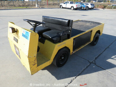 2010 Cushman E-Z-Go 875PE 36V Electric Utility Cart Flat Bed Industrial bidadoo