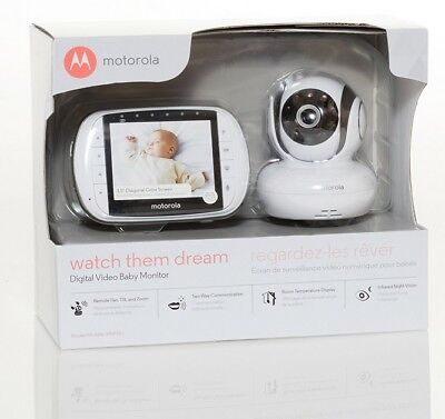 Motorola MBP36S Remote Wireless Video Baby Monitor with 3.5'' LCD Night vision