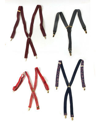 #38 Lot of 3 Vintage Men's Style Mixed Brand Printed Pattern, Basic Suspenders
