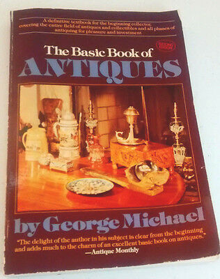 The Basic Book of Antiques, George Michael, SIGNED, 2nd edition 1982, paperback