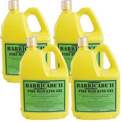 Barricade Fire Gel (Case of 4) 1 Gallon Containers for Home Wildfire Pump System