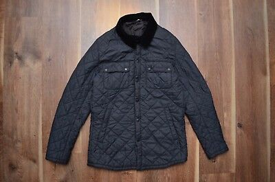 Barbour Men's Akenside Quilted Casual Jacket Gray S Small