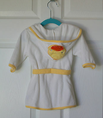 Carter's Hooded Baby Bathrobe with Ducks yellow & white / 0-9 months