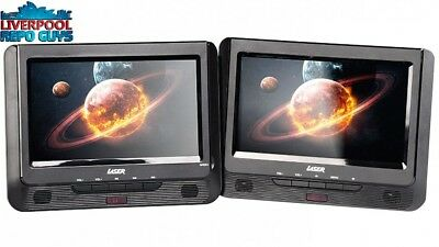 """Laser """"9"""" Portable DVD Player Dual In Car With Bonus Pack"""