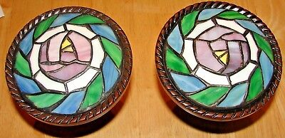 Stained Glass Gorgeous Set Of 2 Curtain Holders Drapery Tie-Backs Hold Back Hook