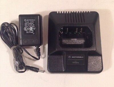 Motorola OEM HTN9702A Charger for P110, P1225, GP300, & GP350, Tested & Working
