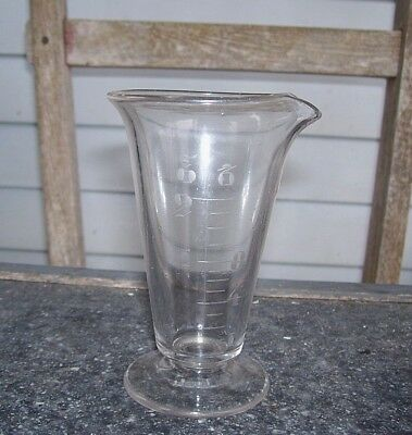 VINTAGE Eched Beaker 4 1/4'' tall