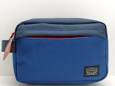 05e3cd25a082 LEVI S MEN S TRAVEL Kit Navy Blue Shaving Toiletry Case Dopp Bag New ...