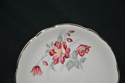 Royal Ascot China Red Floral Design Tea Cup and Saucer Plate