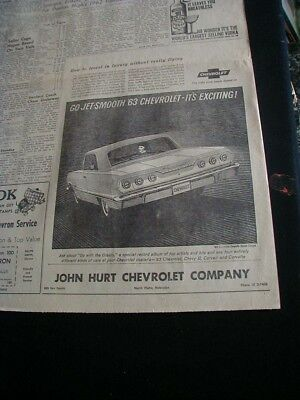 vintage 1962 chevrolet impala sport coupe newspaper ad
