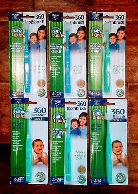Baby Buddy 360 Toothbrush Step 1 Stage 5  -  6 PACKS - FREE SHIPPING!!!!