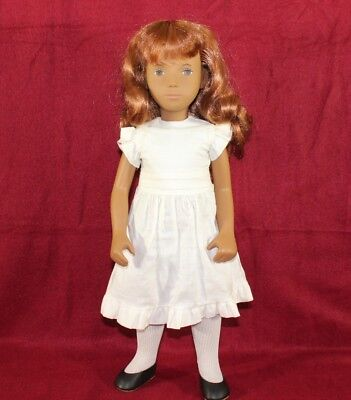 "16"" Vintage 108 Sasha Redhead And White Dress,With Tag and Box,Made In England."