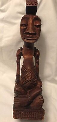 A Very Fine and Rare Kuba Ndop sculpture of the King, African Art