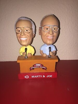 Cincinnati Reds Inaugural Season Baseball Marty & Joe Dual Bobble Head Rare