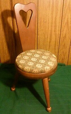 """Vtg HAND MADE Antique PRIMITIVE Wood FOLK ART Small 24"""" STOOL Bench SEAT Chair"""