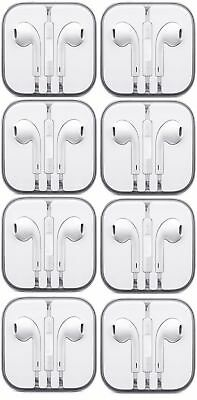 Lot of 8 Earbuds Earphone Headset With Mic For Apple iPhone 5 iPhone 6/6s iPod
