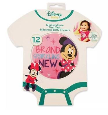 Disney Minnie Mouse First Year Milestone Belly Stickers