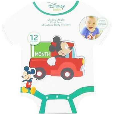 Disney Mickey Mouse First Year Milestone Belly Stickers