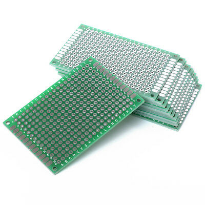 2PCS Double Side Prototype PCB Tinned Universal Breadboard 4x6 cm 40mmx60mm
