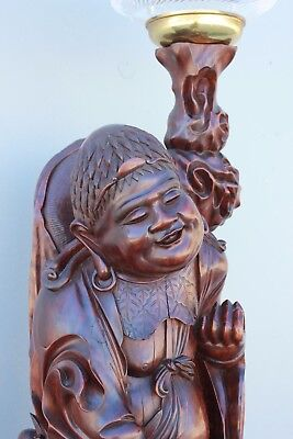 Chinese Art Deco Very Large carved Figure.  119cm high. Stunning Quality.