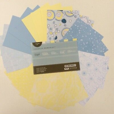 Creative Memories - EXPRESS YOURSELF PHOTO MATS - ENERGETIC - BLUE AND YELLOW