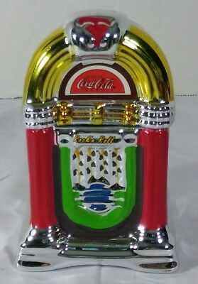 Gibson Coke and a Song Jukebox Ceramic Salt and Pepper Set New Without Box
