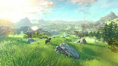 Poster 42x24 cm The Legend Of Zelda Breath Of The Wild Link Videojuego 03