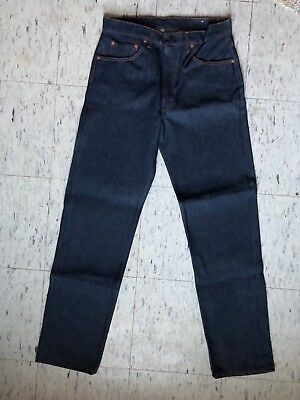 NOS Vtg 80s Levis 505 Red Tab Blue Jeans 34 100% Cotton Deadstock Canada NWT