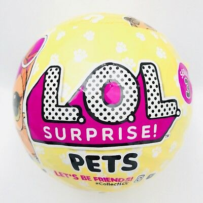LOL Surprise Pets Series 3 New Yellow Ball 7 Layers Doll Pet Animal Free Ship