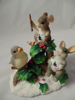 """FREE SHIPPING! CHARMING TAILS Fitz and Floyd 87/102 """"Everybody Sing""""   HOLIDAYS"""