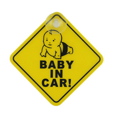2pc Auto Warning Safety Suction Sticker Baby on Board Baby in Car Road Trip Sign