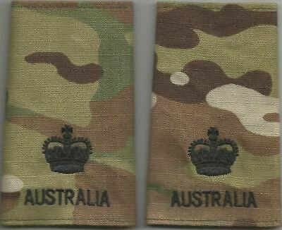 Multicam Army Australia Rank Slides MAJ X2