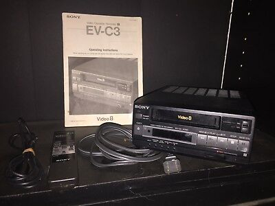 SONY EV-C3 8mm Video8 Video Cassette Recorder Editing VCR with Remote