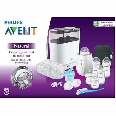 NEW PHILIPS AVENT NATURAL BOTTLE Solutions Set BPA FREE BABY food BOTTLE