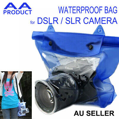 Waterproof Case Cover Pouch for DSLR SLR Camera Dry Bag for Canon Nikon etc Blue