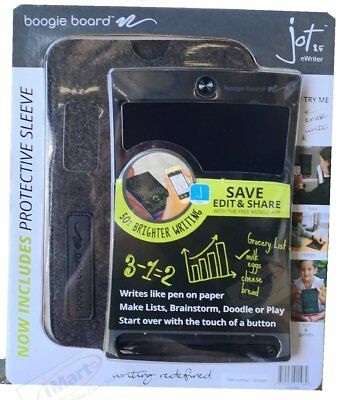 Genuine Boogie Board Jot 8.5 eWriter Includes Protective Sleeve Black New