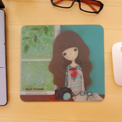 PVC Mouse Mat Pad High Quality 5mm Thick Non Slip 22cm x 20cm Cute Girls