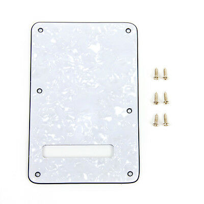 White Pearloid Guitar Back Plate Tremolo Cover For Fender Strat replacement Left