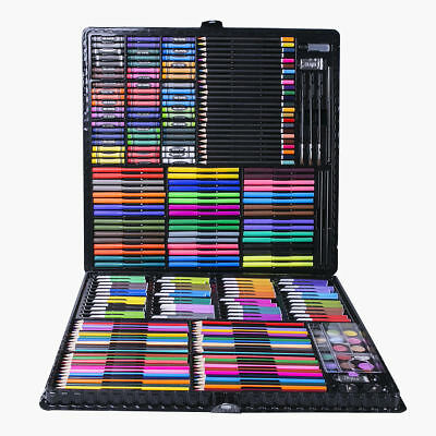 2018 Complete Paint Drawing Art Box Set Watercolor Pencils Oil Pastel Kids Gift
