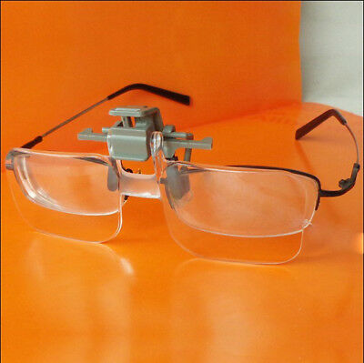 2X Aged Glasses Clip Type High Definition Acrylic Lens Magnifying Glass Loupe #