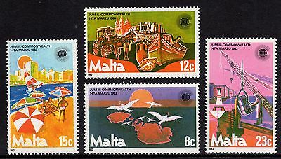 Malta 1983 Commonwealth Day Complete Set SG708 - 711 Unmounted Mint