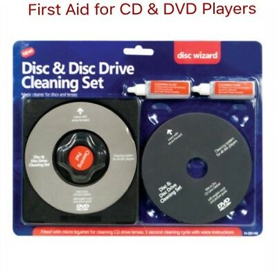 Laser Lens Cleaner Set Cleaning Kit for PS3 XBOX 360 BLU RAY DVD/CD Player DISC